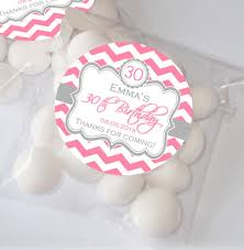 party favours chevron 21st 30th 40th 50th personalised sweet favour bags favour