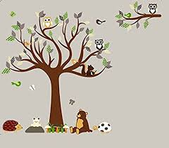 Animal Wall Decals For Nursery Hh Baby Boutique Nursery Owl Wall Decal Teddy