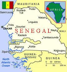 africa map senegal senegal africa on safari