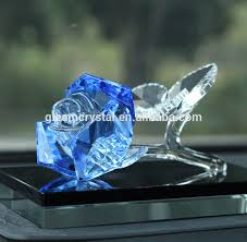 Glass Rose China Blue Crystal Flower China Blue Crystal Flower Manufacturers