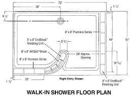 Standard Shower Door Sizes Walk In Shower Sizes Walk In Shower Dimensions Walk In Shower