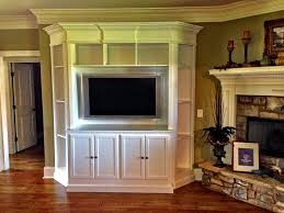 Media Room Built In Cabinets - built in media center solves awkward living room design