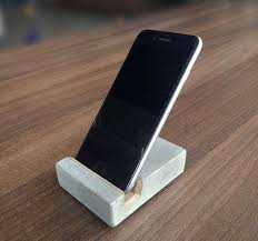 support bureau iphone stand de bureau iphone iphone béton support iphone support