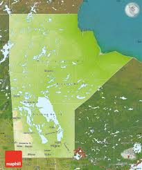 Physical Map Of Canada by Physical Map Of Manitoba Satellite Outside