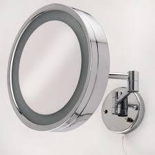 halo large swinging lighted vanity mirror bathroom