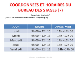 bureau des stages informations sur le conventionnement du stage georges manecy bureau