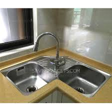 stainless corner sink stainless steel double bowls kitchen corner sinks no faucet 519 99