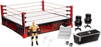 Wrestling Ring Bed by Amazon Com Wwe Elite Wrestlemania Ring Playset Toys U0026 Games