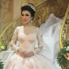 wedding dress designer indonesia intan azzahra wearing ivan gunawan wedding gown march 2017