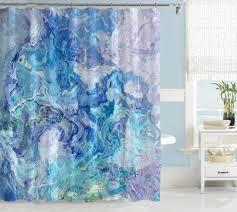 abstract art shower curtain aqua blue shower curtain cloud nine