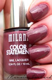 milani color statement nail lacquer mauving forward www