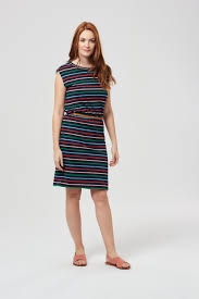 coloured dress hetty multi coloured stripe dress by sugarhill boutique