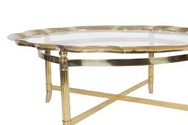 Metal Tray Coffee Table Labarge Glass Brass Coffee Table Best Gallery Of Tables Furniture