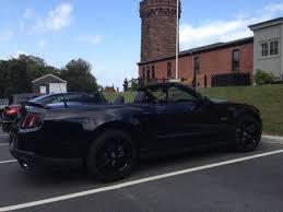 2012 Black Mustang 2012 Ford Mustang Gt Premium Convertible Triple Black 2 Door 5 0l 6spd