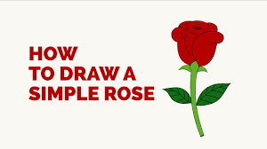 how to draw a simple rose in a few easy steps drawing tutorial