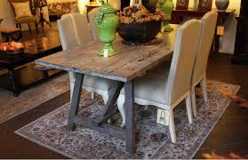 sawhorse dining table neat on reclaimed wood dining table and