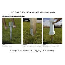 Decorative Wood Post Dig Post Ground Anchor 580d By Mayne