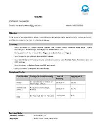 Itil Certified Resume Certified Resume