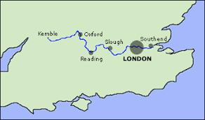 thames river map europe thames
