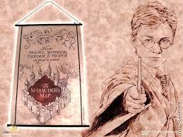 Harry Potter Map Harry Potter Marauder U0027s Map Wall Scroll U2013 Cinereplicas Usa