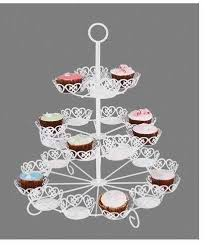rotating cake stand 3 tiers metal cupcake stand with powder coating rotating cake