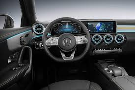 check out the interior of the new mercedes benz a class