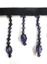 Bead Trim For Curtains Of Black Beaded Curtain Trim 4cm Glass Bead Effect Tassel