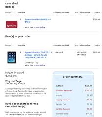 target gift card with sprint black friday ipad target black friday order cancelled macrumors forums