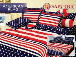 American Flag Bed Set Jual Sprei Saputra American Flag Bed Cover Set 180 X 200 Cm Rafa