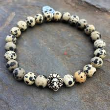 bracelet natural stone images Bracelet natural stone beads lion and skull helios jewelry store jpg