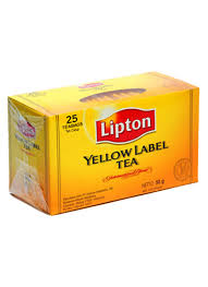 Teh Lipton lipton teh celup yellow label 25 s envelope box 50g klikindomaret