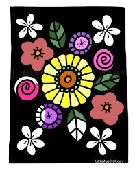 crafts simply beautiful flowers coloring page
