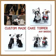 custom made wedding cake toppers that look your like your dog