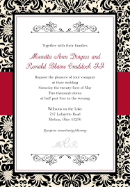 Red Wedding Invitation Cards 32 Black And Red Wedding Invitations Vizio Wedding