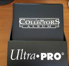 9 pocket pages ultra pro collectors album for 9 pocket pages black ebay