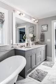 black white and grey bathroom ideas the grey cabinet paint color is benjamin kendall charcoal
