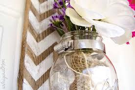 jar vase chevron pallet mounted hanging jar vase unoriginal