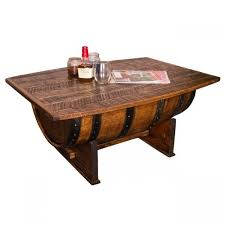 whiskey barrel side table whiskey barrel coffee table as seen in country living magazine