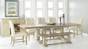 hudson stone wash rectangular extendable trestle dining table from
