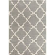 Modern Trellis Rug World Rug Gallery Contemporary Modern Trellis Gray 7 Ft 6 In X 9
