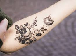 flower tattoos black and white collection 43