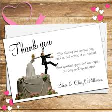 and groom cards 10 personalised wedding holding groom thank you cards n37
