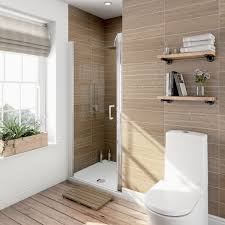 6mm frameless hinged shower door 800