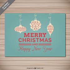 classic christmas card vector free download