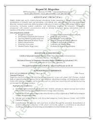 assistant principal resume or cv sample a k a vice