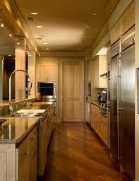 Black Galley Kitchen - kitchen decorative galley kitchen track lighting ideas with