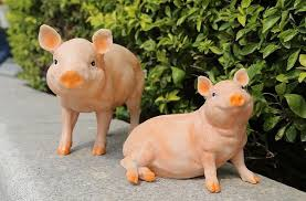 four pig brothers garden ornament animals decor garden style