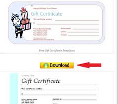 how to make printable gift certificate