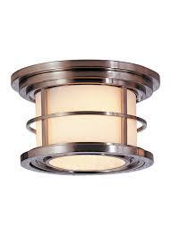 Copper Flush Mount Light Ol2213bs 2 Light Ceiling Fixture Brushed Steel