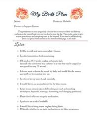 birth plan template printable sample birth plan by rgi48072